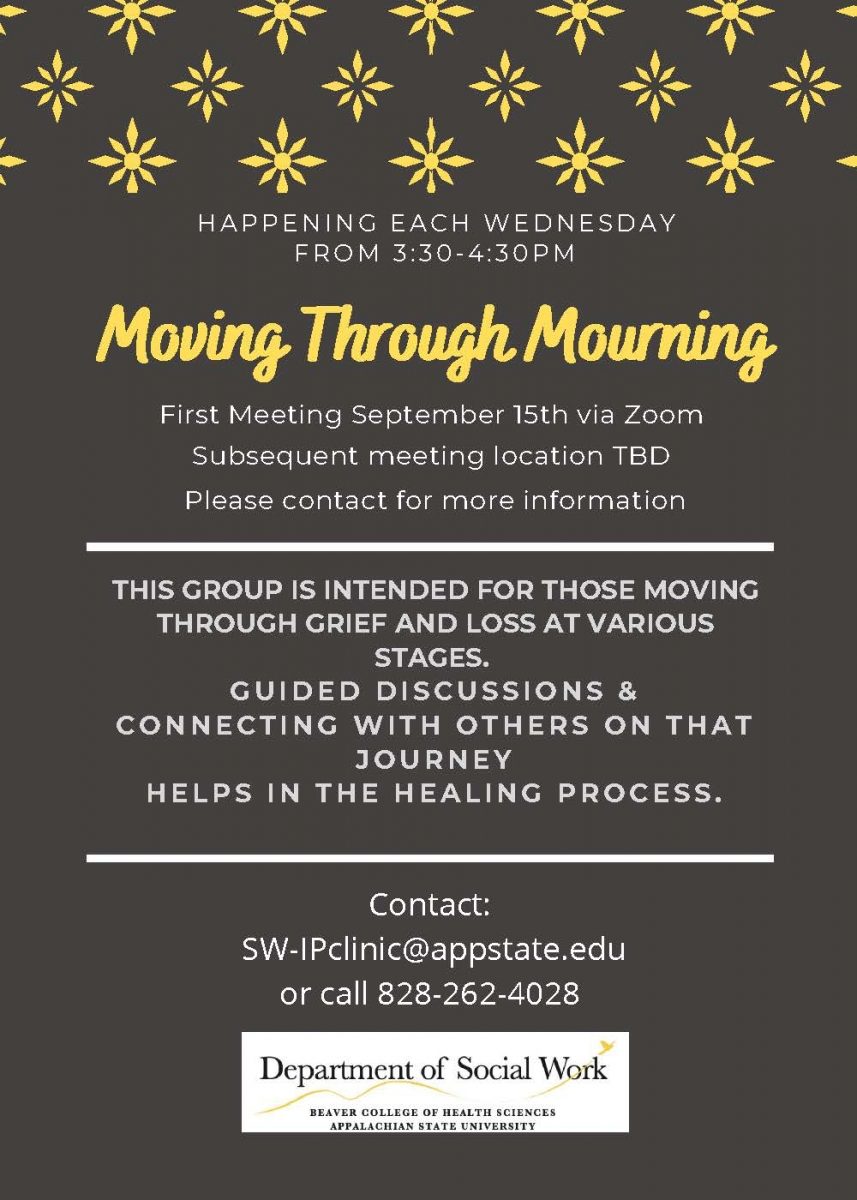 Moving Through Mourning Group Flyer