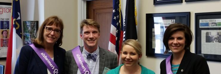 Rikki Rogers and other North Carolina Delegates for the Alzheimer's Association